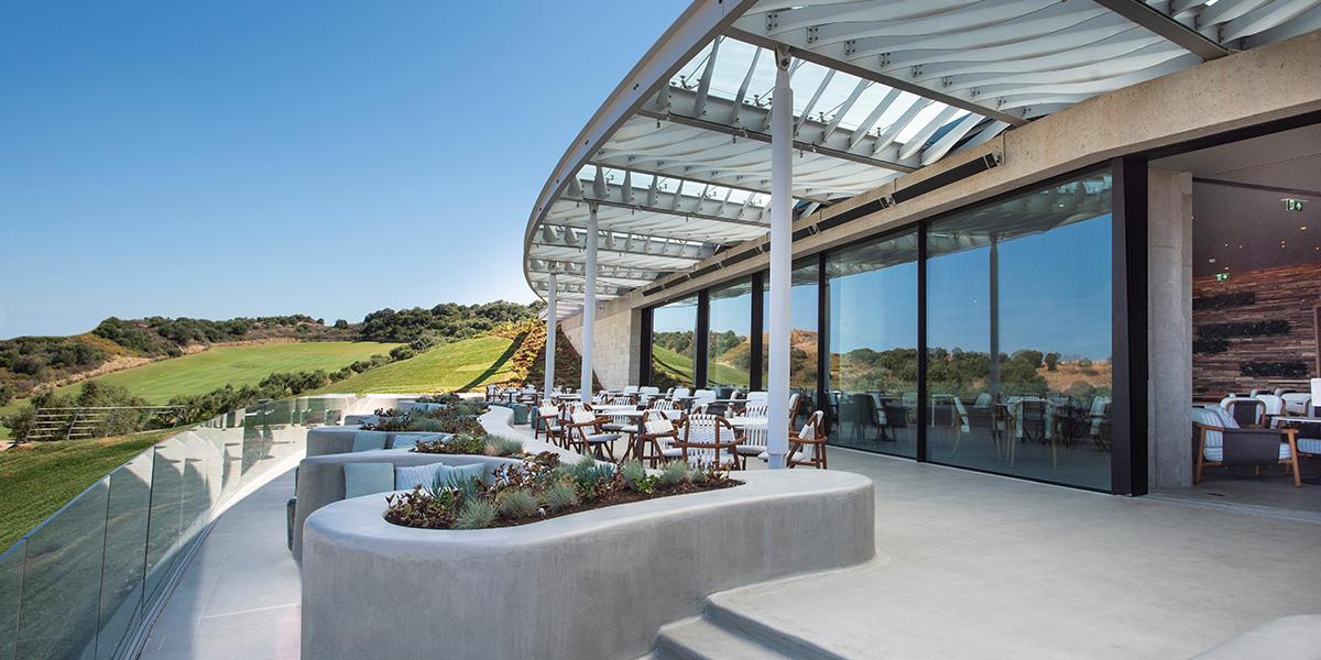 Bay Clubhouse Entrance, Costa Navarino, Prestigious Venues