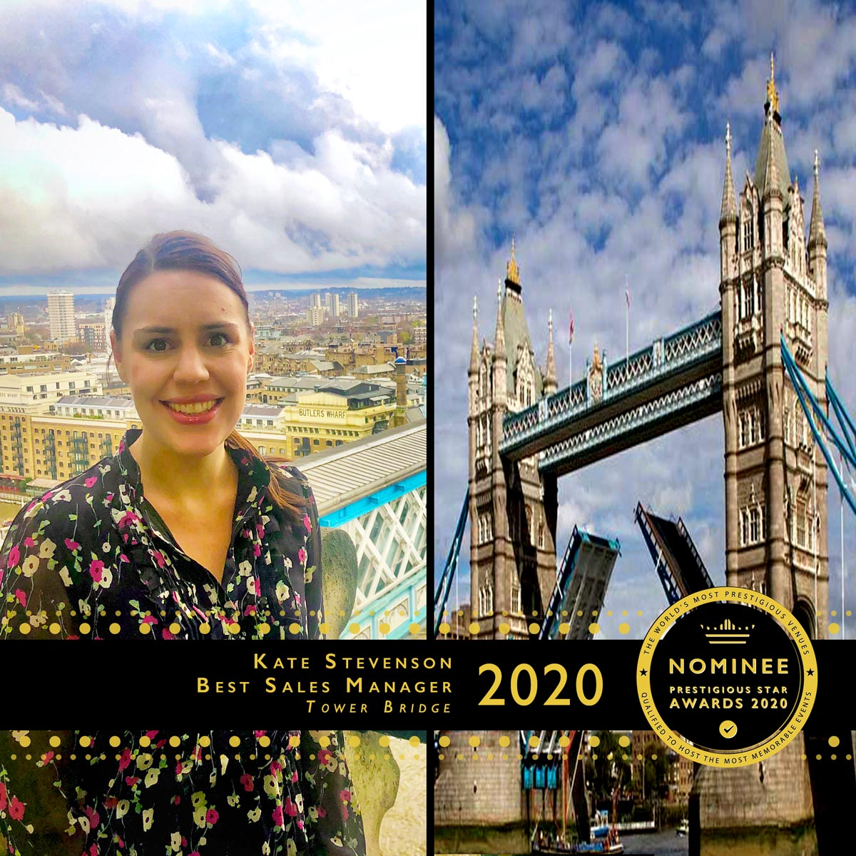 Kate Stevenson at Tower Bridge