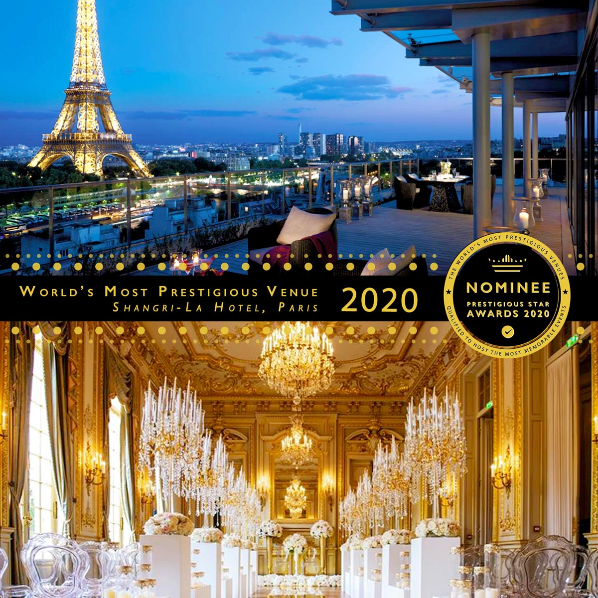 Le Grand Salon Function Room at Shangri-La Hotel, Paris