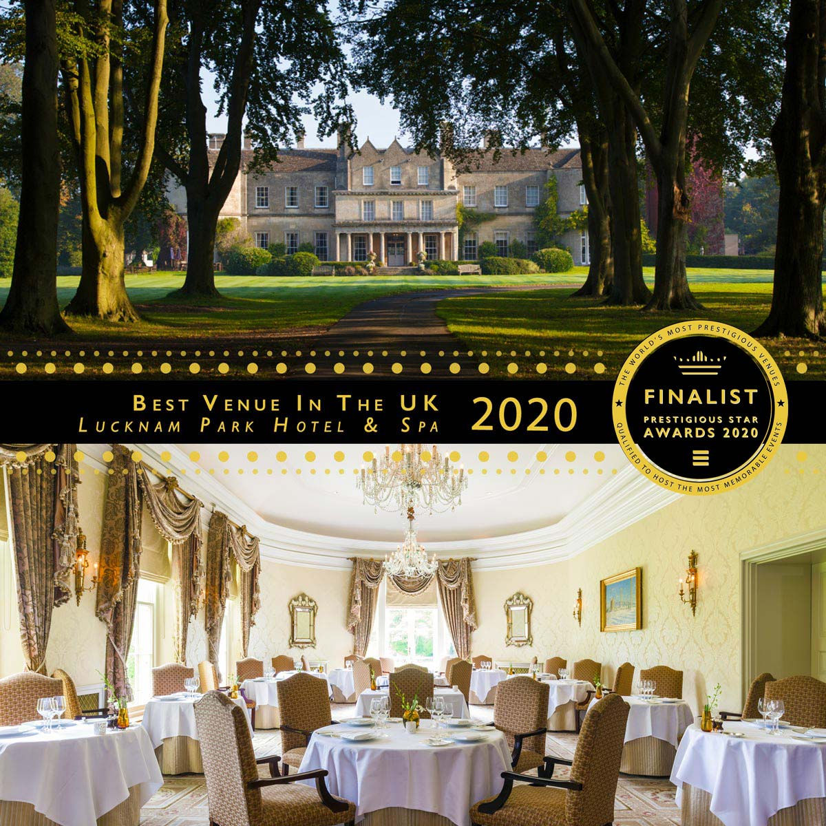 The Walmesley Room at Lucknam Park Hotel & Spa